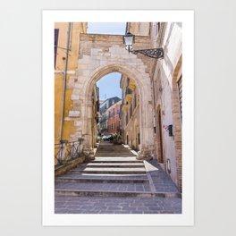 Porta Pescara, Old Arch Art Print