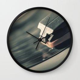 Music From a Vintage 45 RPM Record Playing on a Turntable 2 Wall Clock