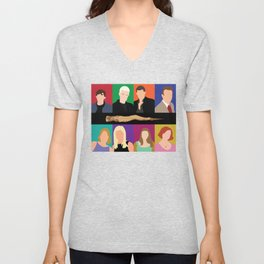 Buffy the vampire slayer characters Unisex V-Neck