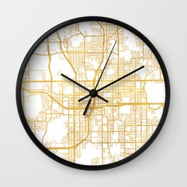 ORLANDO FLORIDA CITY STREET MAP ART Wall Clock
