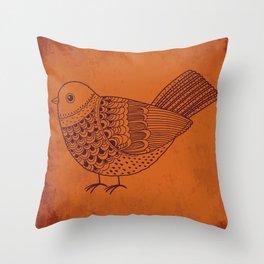 Retro Pigeon Throw Pillow