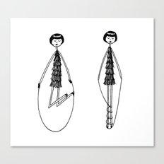 Unlike Eloise, Ramona had mastered the jump rope. Canvas Print
