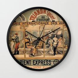 1896 Orient Express musical revue Paris Wall Clock