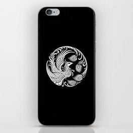 Traditional White and Black Chinese Phoenix Circle iPhone Skin