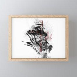 Never sleep Framed Mini Art Print