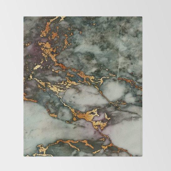 Gray Green Marble Glitter Gold Metallic Foil Style by originalaufnahme