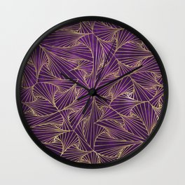 Tangles Violet and Gold Wall Clock