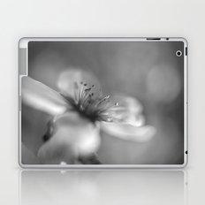 White flowers. Mono Laptop & iPad Skin