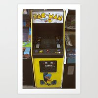 pacman Art Prints featuring PacMan by Brieana
