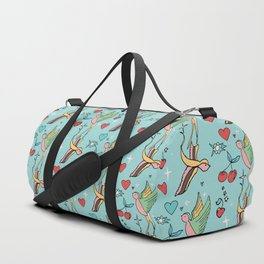 Rockabilly Swallow Pastel Duffle Bag