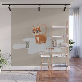 Ginger Cat and Mice Catch me If You Can Wall Mural