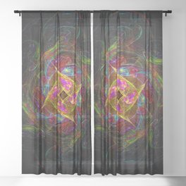 Spectral Rose Sheer Curtain