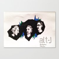 alt j Canvas Prints featuring Alt-J by Nic Zuhse
