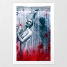 Shower Slasher Art Print