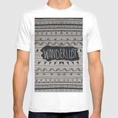 WANDERLUST Mens Fitted Tee White MEDIUM