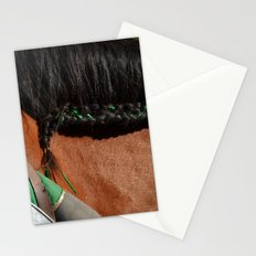Jousting Horse - Green Braid Stationery Cards