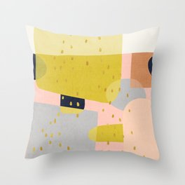 Conglomeration in Earth Throw Pillow
