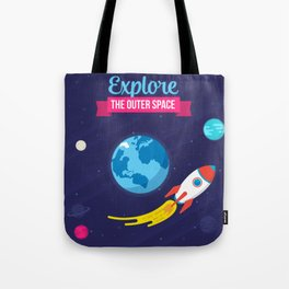 Explore the outer Space Tote Bag