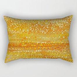 Landscape Dots - Orange Rectangular Pillow