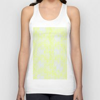 damask Tank Tops featuring Damask Yellow by Simply Chic
