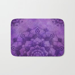 Deep Purple Lotus Mandala Bath Mat