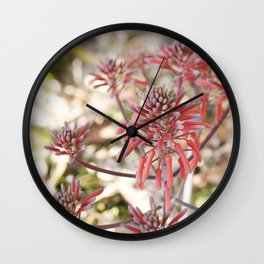 Tropical Blooms Wall Clock