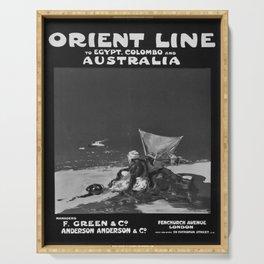 locandina Orient Line Egypt Colombo Australia Serving Tray