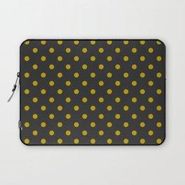 Black and Gold Polka Dots Laptop Sleeve