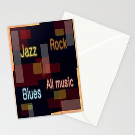ALL MUSIC Stationery Cards