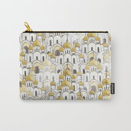 golden Russian cathedral church pattern Carry-All Pouch