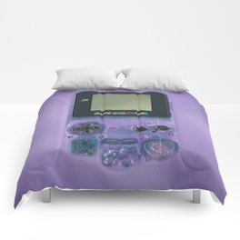 Classic retro transparent purple game watch iPhone 4 5 6 7 8, tshirt, mugs and pillow case Comforters