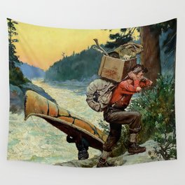 """""""Cruisers Making Portage"""" by Philip R Goodwin Wall Tapestry"""