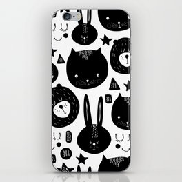 Black and White Animals iPhone Skin