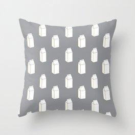 Milk Cartons (Grey)  Throw Pillow