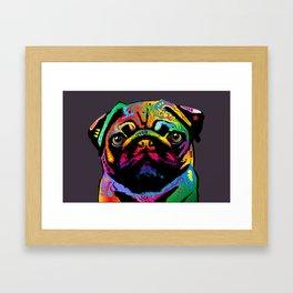 Pug Dog Framed Art Print