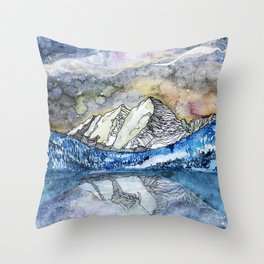 The Maroon Bells Meets  the Sky Throw Pillow