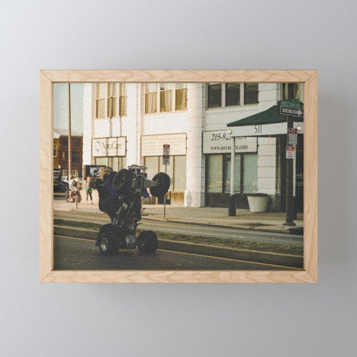 Life on Broad Framed Mini Art Print