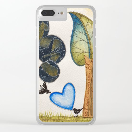 Birds in love Clear iPhone Case