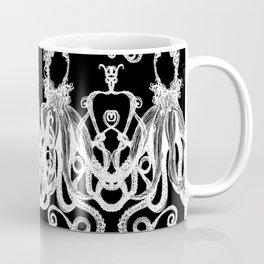 Octopus Black and White Coffee Mug
