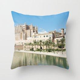 Seu Cathedral Palma de Majorque Throw Pillow