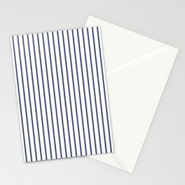 Posey Violet Thin Pinstripe on White Stationery Cards