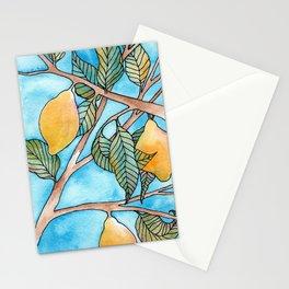 Lemon tree leaves Stationery Cards
