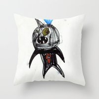 hero Throw Pillows featuring Hero by landon zobel