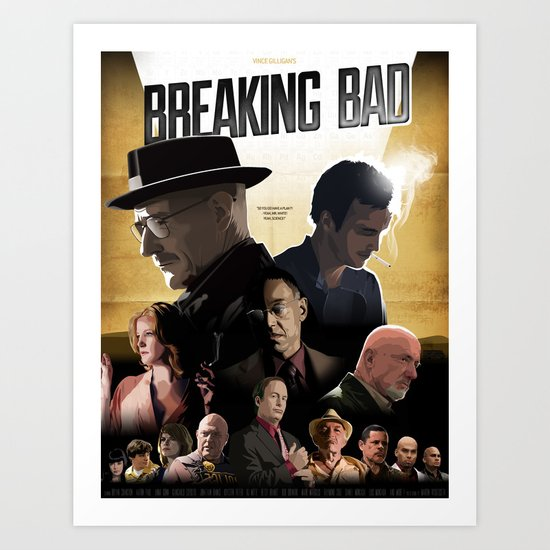 Breaking Bad - complete poster Art Print