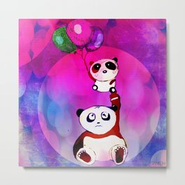 The stupid things of the baby panda Metal Print