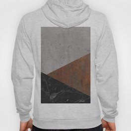 Concrete, Rusted Iron, Marble Abstract Hoody