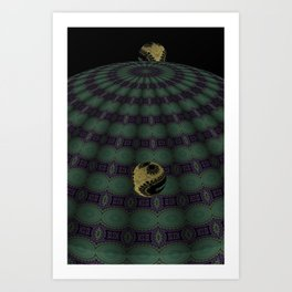 Unfitting Frame Orbitals 11 Art Print