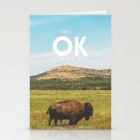oklahoma Stationery Cards featuring Oklahoma Buffalo by Michael Roselle