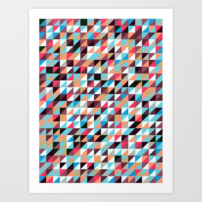 Quilted Patchwork Art Print