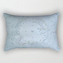 South Pole Antarctica antique map Rectangular Pillow